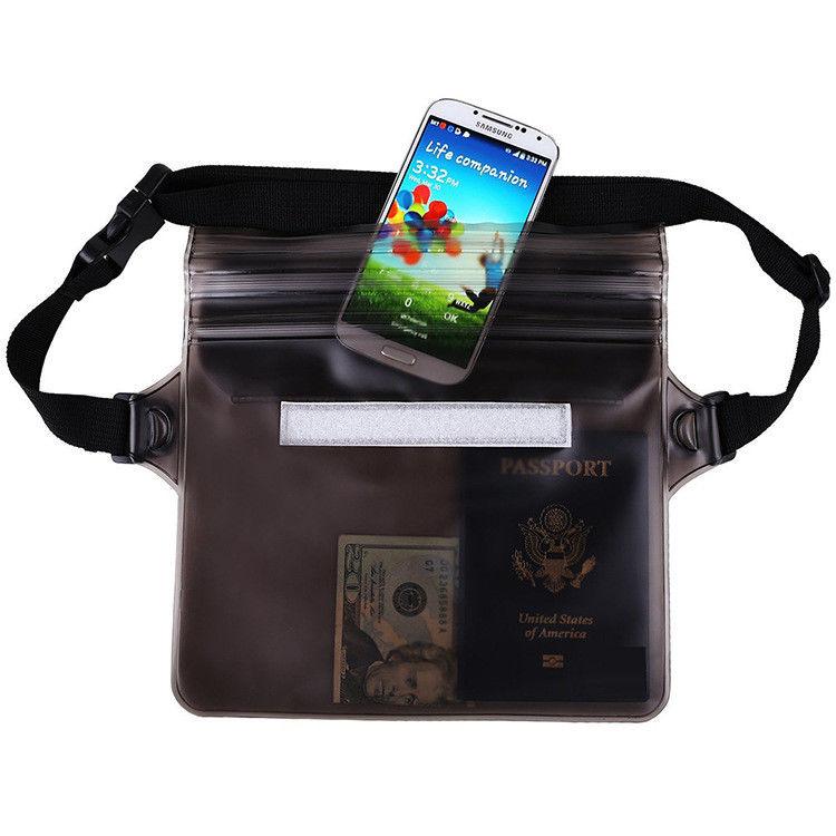 Mobile Phone Waterproof Bag PVC Swimming Storage Bag Waist Case ES